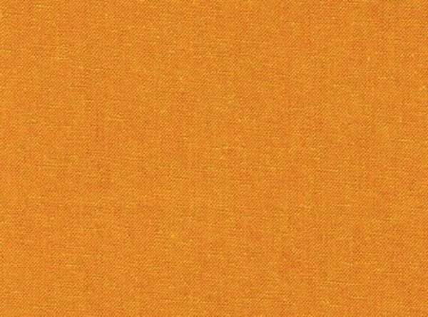 Golden, orangish cotton-linen blend fabric