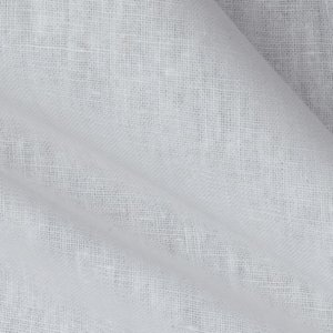 Plain white linen fabric