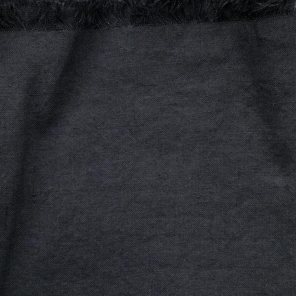 Close up of plain, black fabric.