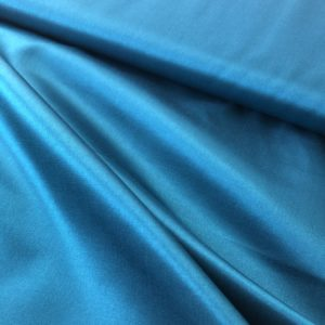 Shiny, silky teal fabric