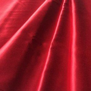 Bright, saturated crimson red silk fabric