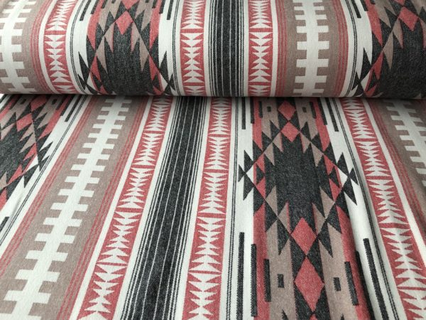 Southwest style flannel - brown, black, red, and cream