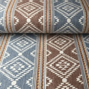 Southwest style flannel - soft blue, brown, and cream