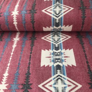 Southwest style flannel - red, black, blue, and white