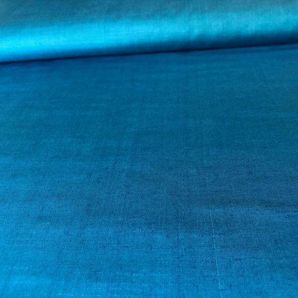 Lightweight turquoise silk fabric