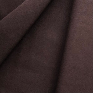 Dark chocolate brown fabric. So dark, it's almost black.