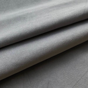 Soft shale gray velveteen. That's it. Nothing else in the photo.