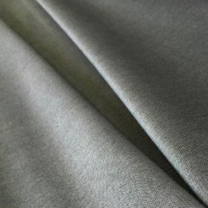 Soft gray fabric, pleated.