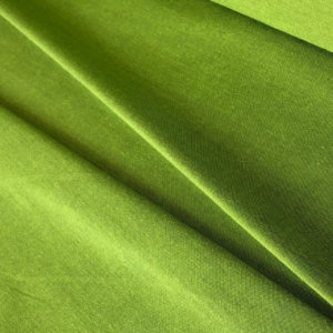 Bright tropical green fabric, pleated.