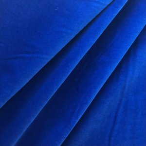 Royal blue velveteen. That's it. Nothing else in the photo.
