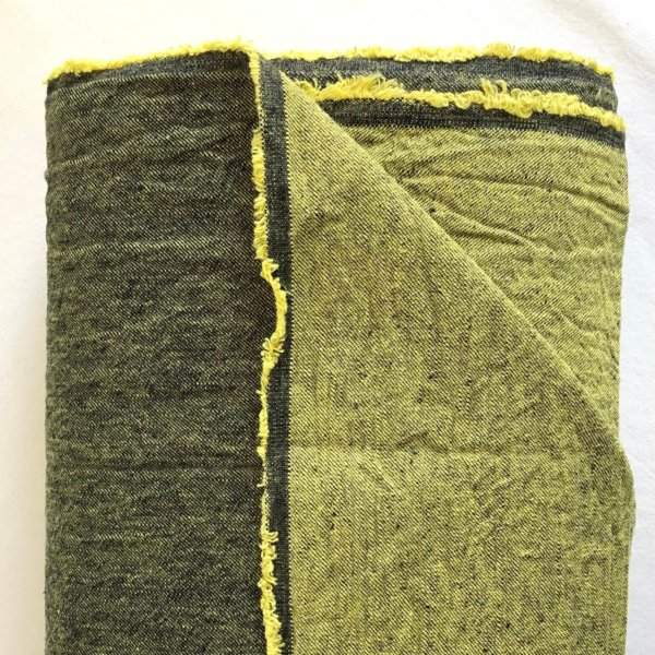 Dark green fabric with light green back side of fabric