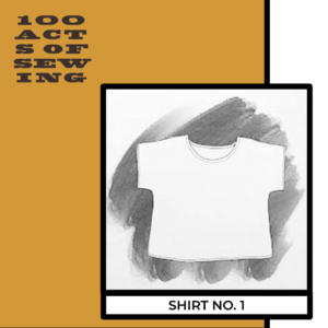 Pencil drawing of a pull-over short sleeve top, Shirt Number One