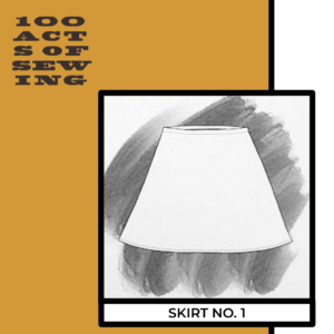 Pencil drawing of an aline skirt, Skirt Number One