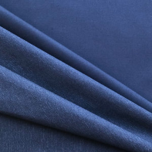 Dark indigo blue fabric with tightly spaced, faint white lines