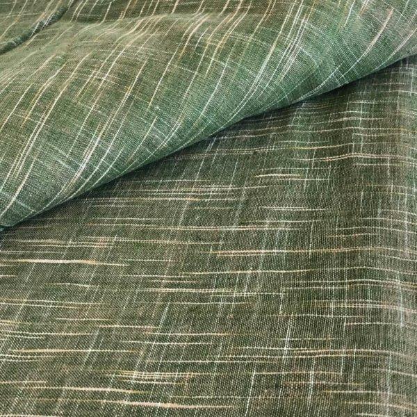 Handwoven fabric with ikat crosshatching