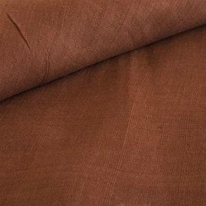 Handwoven cinnamon brown fabric