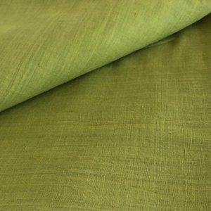 Handwoven medium green fabric