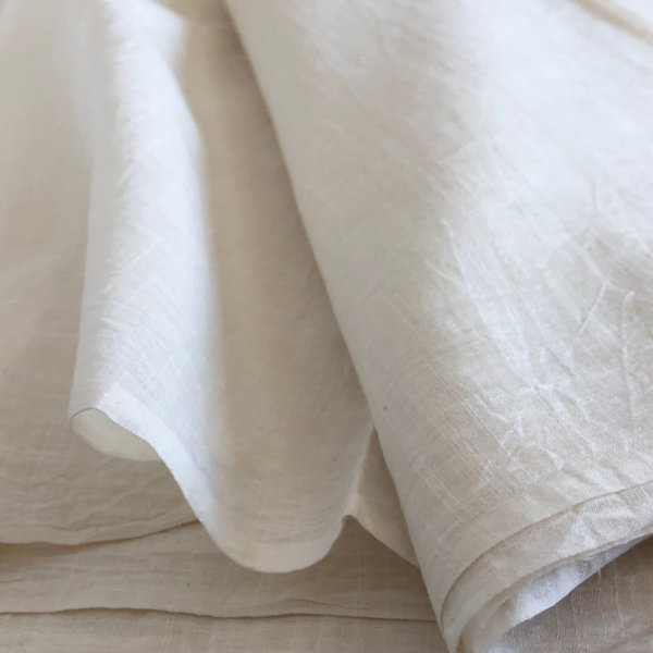 Gentle layers of all natural, white muslin
