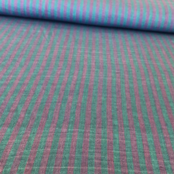 Turquoise and purple striped fabric