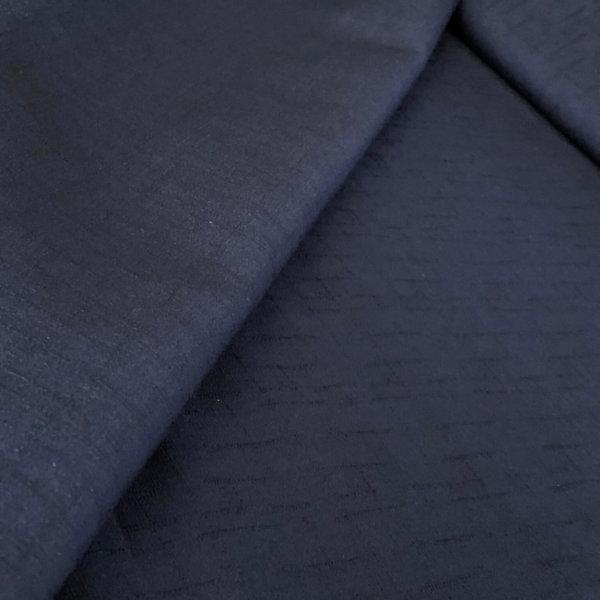 Navy Blue Dobby textured fabric