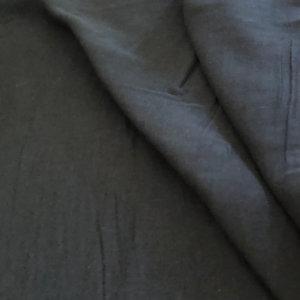 Black cotton gauze. So soft!