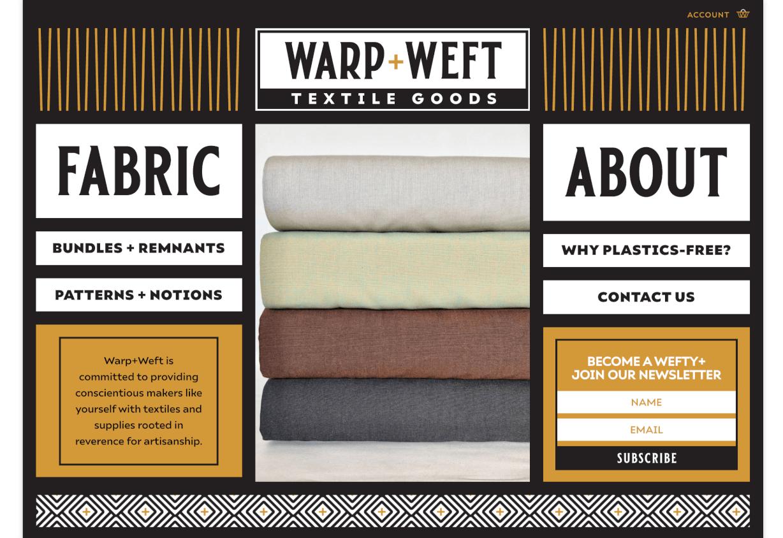 Warp + Weft Home Page Screenshot
