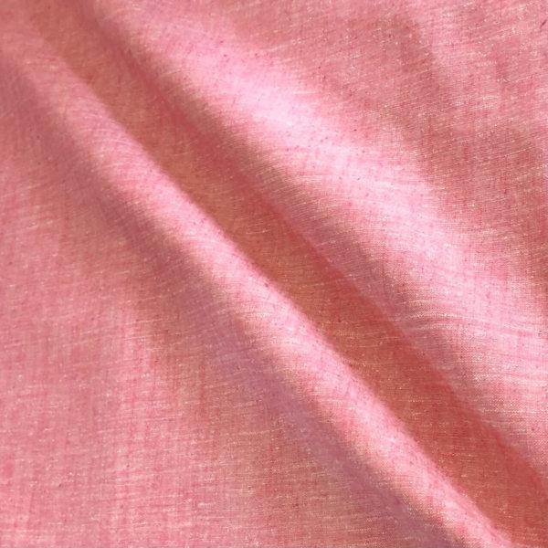 closeup of heathered pink fabric