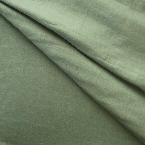 Forest green cotton gauze. So soft!