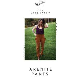 Model wearing arenite pant