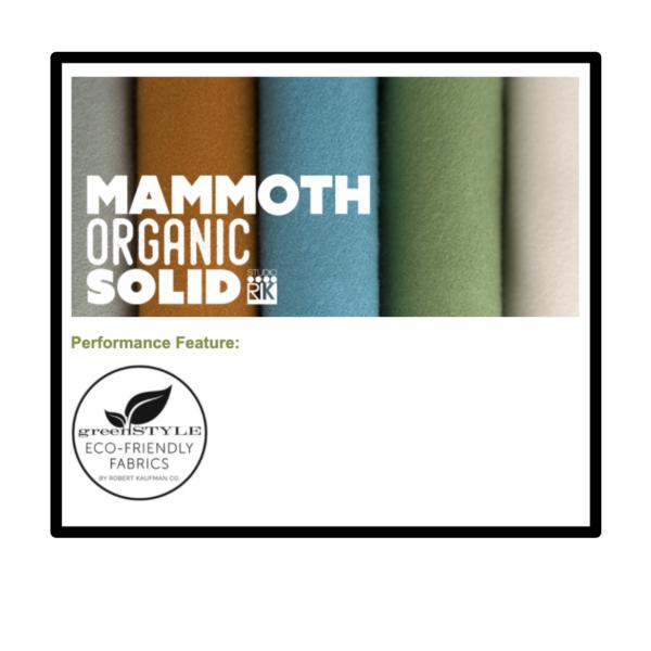 Organic Mammoth Flannel logo and Greenstyle Eco-Friendly Fabrics logo
