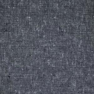 yarn-dyed, heathered charcoal gray fabric