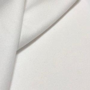 Medium weight, white flannel