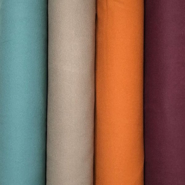 Stack of four colors of Organic Mammoth Flannel